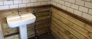 slide bathroom wood
